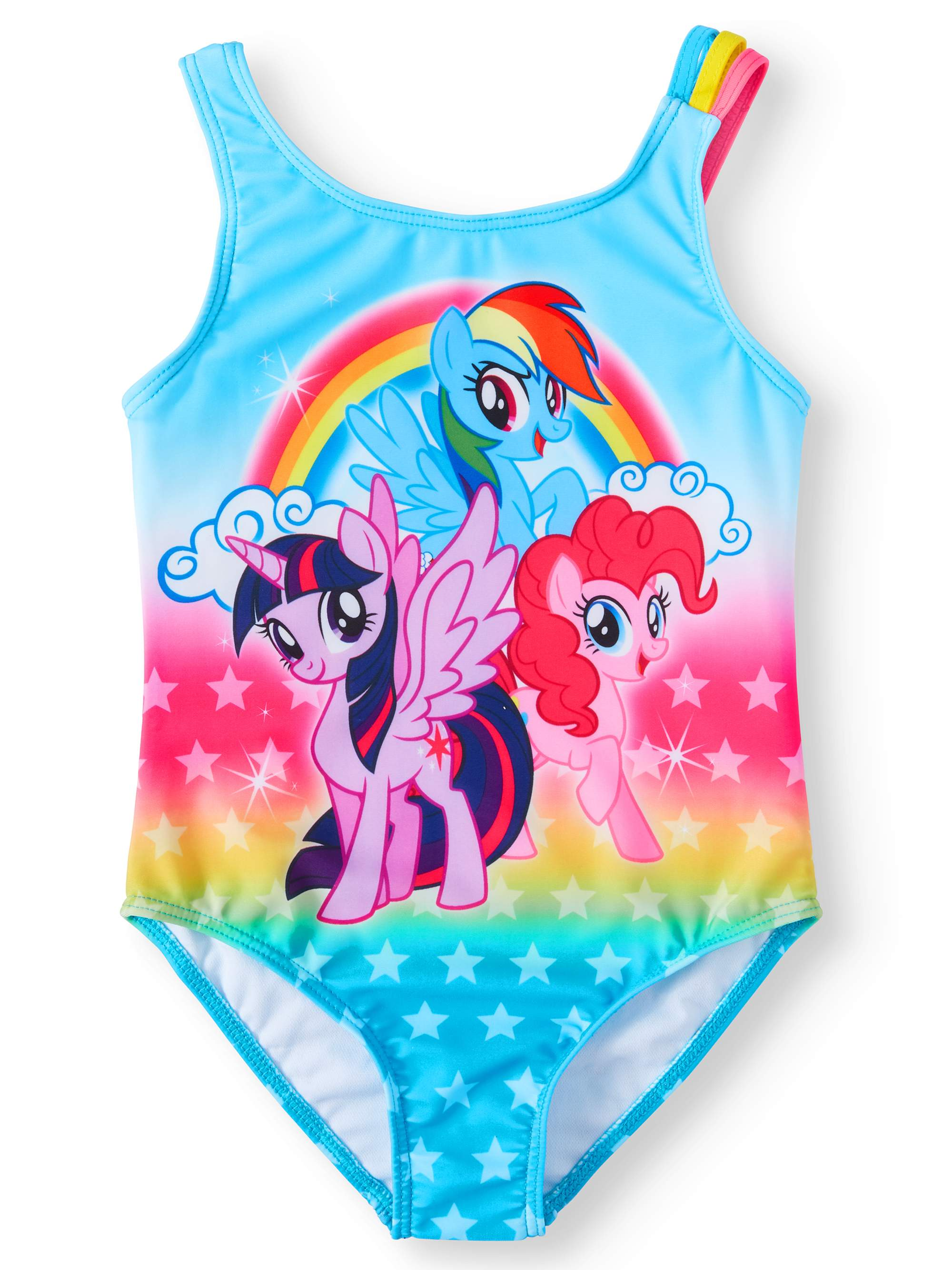 Rainbow Ponies One-Piece Swimsuit (Little Girls)