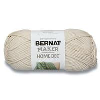 Bernat Maker Home Dec Cream Yarn, 8.8 ounces, 317 yards