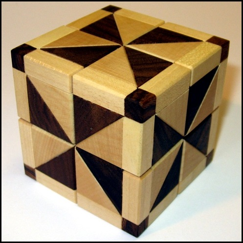 Alias Explosion Cube Wooden Puzzle Brain Teaser by