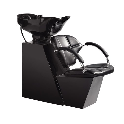 BestSalon Backwash Shampoo Bowl Sink Chair Unit Station B...