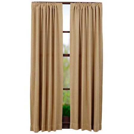 1PC Burlap Natural Cotton Window Panels Fully Stitched With Rod Pockets in Multiple Sizes (84