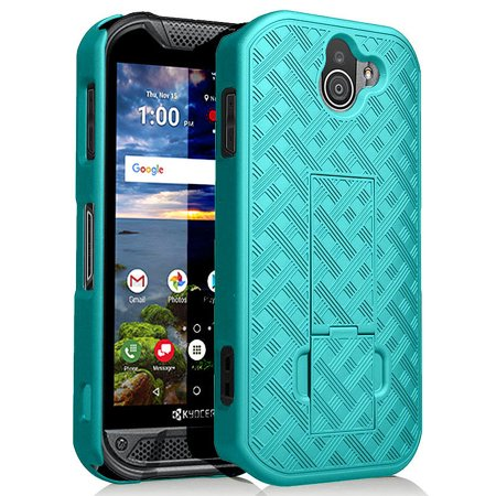 - Kyocera Duraforce Pro 2 Case, Nakedcellphone Slim Ribbed Rubberized Hard Shell Cover [with Kickstand] for Kyocera Duraforce Pro-2 Phone (E6910)