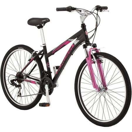 26 Schwinn Sidewinder Women S Mountain Bike Matte Black Pink