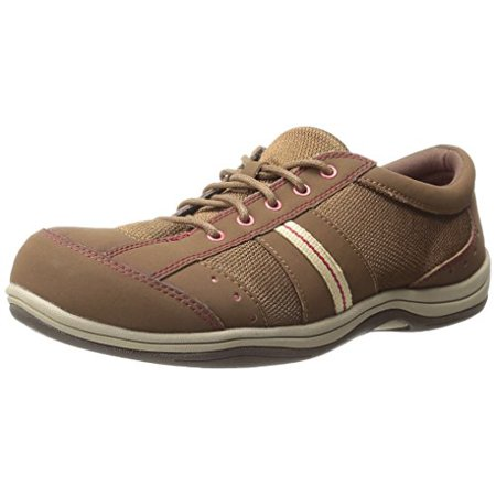 - Easy Street Women's Emma Fashion Sneaker, Cocoa Leather/Fabric, 7 WW US