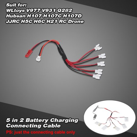 5 in 2 Battery Charging Connecting Cable for WLtoys V977 V931 Q282 Hubsan H107 H107C H107D JJRC H5C H6C H21 RC (Radio Shack 5 In One Remote Instructions)