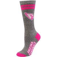 Arizona Cardinals Women's Marble Tall Socks - Gray/Pink