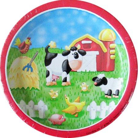 Barnyard 'On the Farm' Small Paper Plates (8ct) - Farm Plates