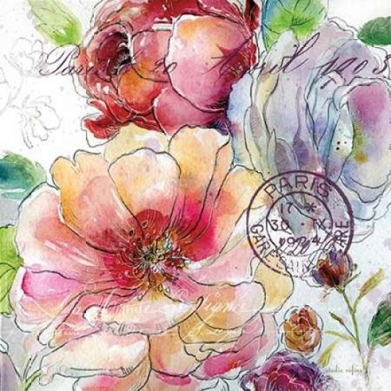 Flora Bella 1 Rolled Canvas Art - Studio Rofino (12 x 12)