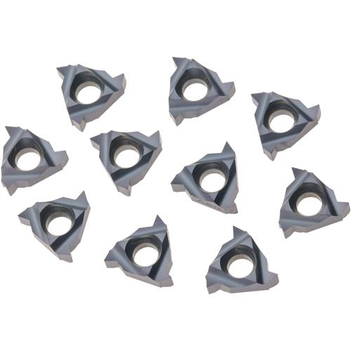 Grizzly H8353 Carbide Inserts 08 IR A 60 for Stainless, Aluminum, Cast-Iron, pk. of 10