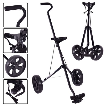 Halloween Golf Cart Ideas (Costway Foldable 2 Wheel Push Pull Golf Club Cart Trolley Swivel Steel Lightweight)
