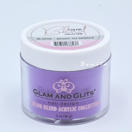 Glam And Glits Acrylic Powder Color Blend Collection BL3039 Ready To Mingle 2 oz (Foundation Expression Blend)