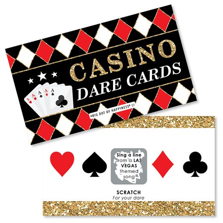 Las Vegas - Casino Party Game Scratch Off Dare Cards - 22 Count - Las Vegas Decorations Ideas