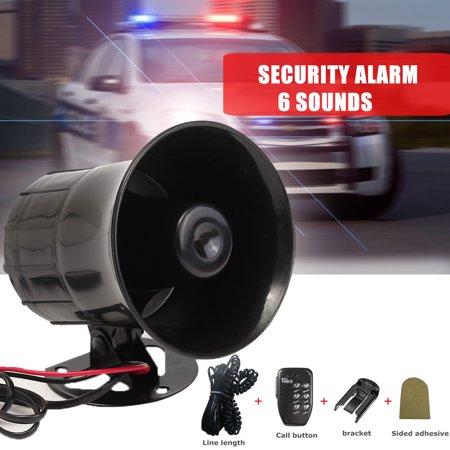 Car Warning Alarm Police Fire Siren Horn PA Loud Speaker MIC System 6 Sound  Tone