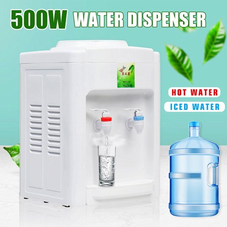 110V Normal Table Top Hot & Cold Water Dispenser Home Office Water Cooler For 3-5 Gallon water bucket ()