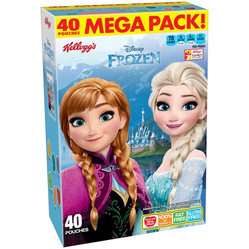 Kellogg's Disney Frozen Assorted Fruit Flavored Snacks, 40 count