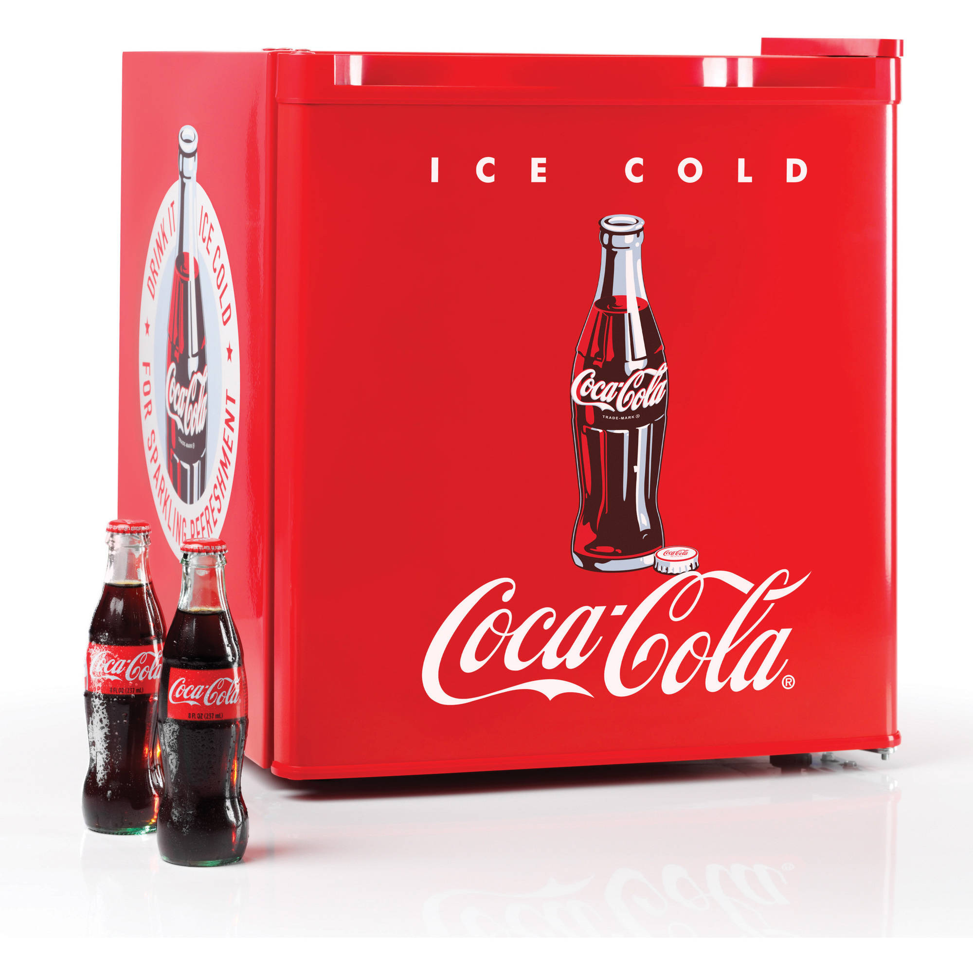 Nostalgia CRF170COKE Coca-Cola 1.7 cu. Ft. Refrigerator with Freezer Compartment