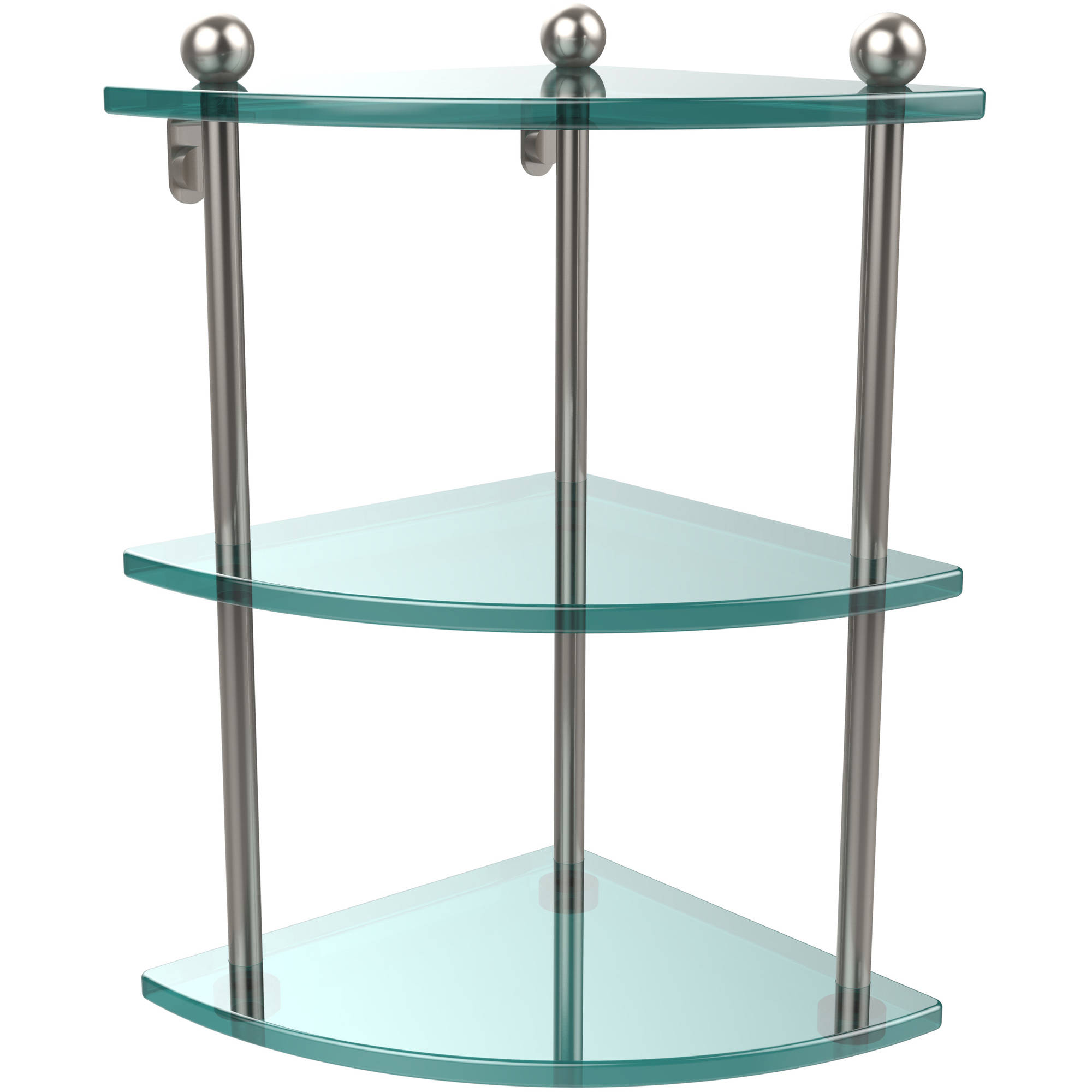 3-Tier Corner Glass Shelf (Build to Order)