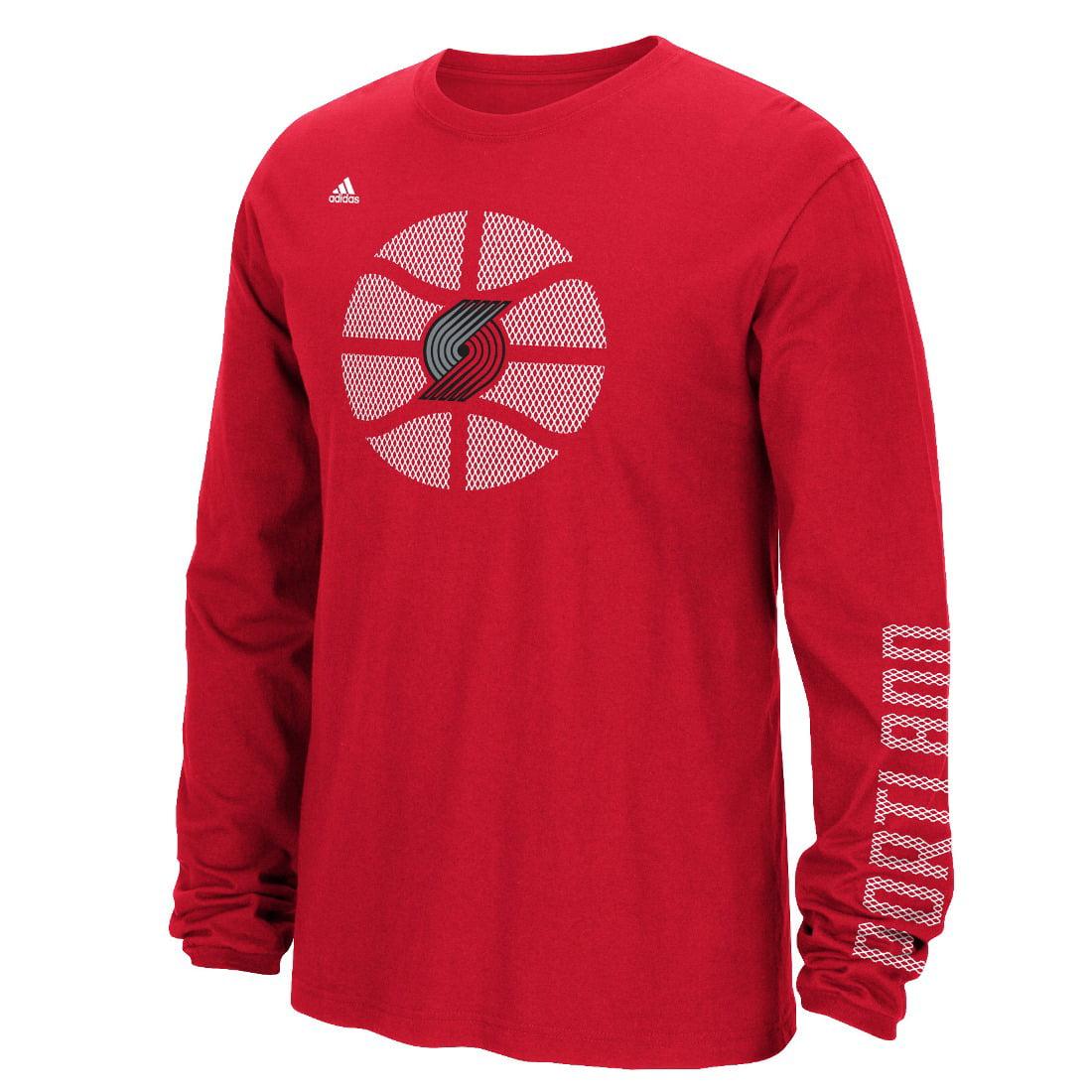 "Portland Trail Blazers Adidas NBA ""Cager"" Men's Long Sleeve T-Shirt"