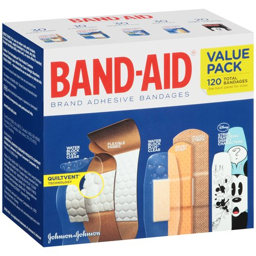 Band-Aid Value Pack Adhesive Bandages, 120 count