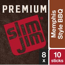 Jerky & Dried Meats: Slim Jim Premium Smoked Sticks