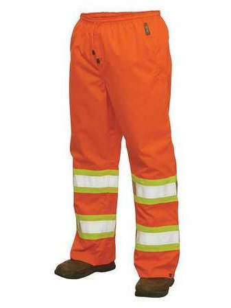 Hi-Vis Rain Pants,L,Orange WORK KING S37411