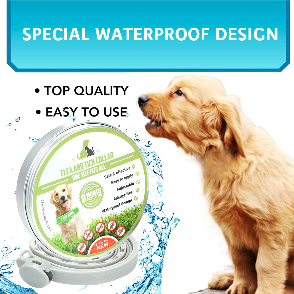 Natural Dog Treats Flea and Tick Collar for Dogs /& Cats 8 Months Effective Protection Adjustable Waterproof