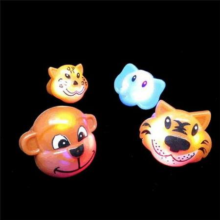 Blinkee 1051000 Light Up Soft Animal Rings Assorted Color - Pack of 24](Blinky Rings)