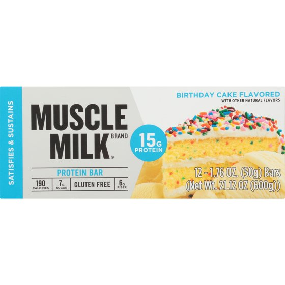 Muscle MilkR Birthday Cake Flavored Protein Bars 12 176 Oz
