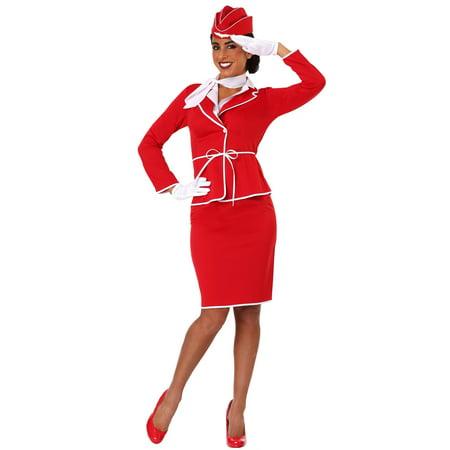 Women's First Class Flight Attendant Costume (Dead Flight Attendant Costumes)