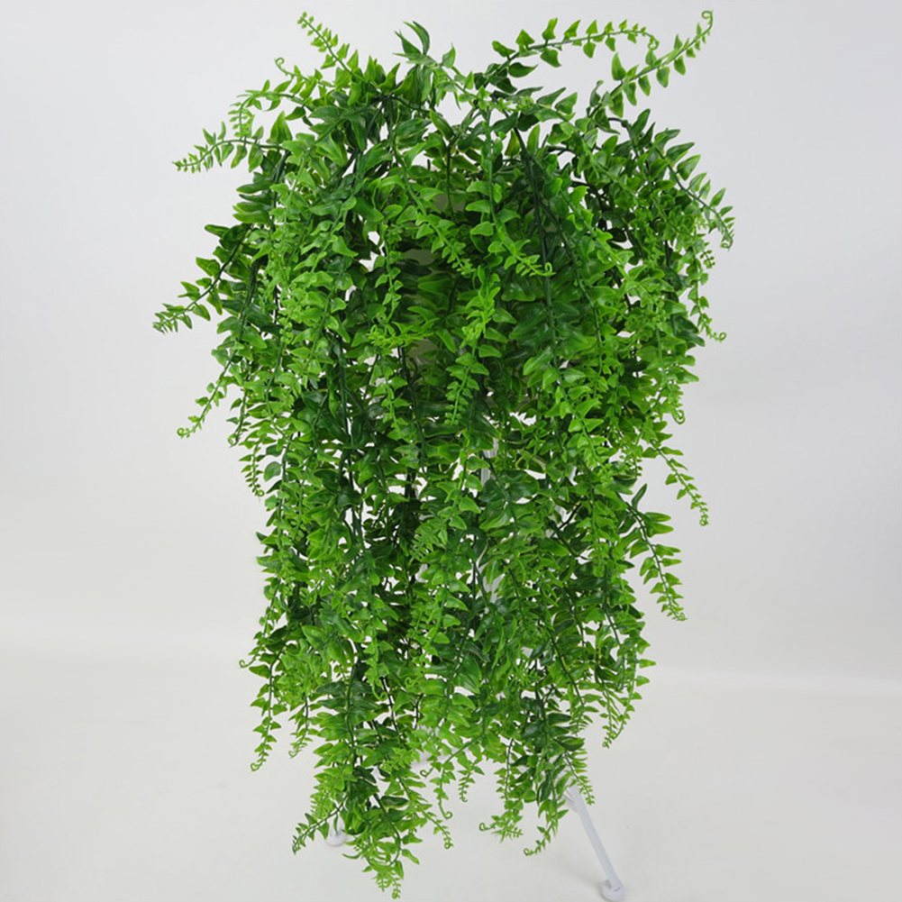 Micelec Vivid Artificial Green Plant Home Garden Decoration Wall Hanging Fake Vines Gift