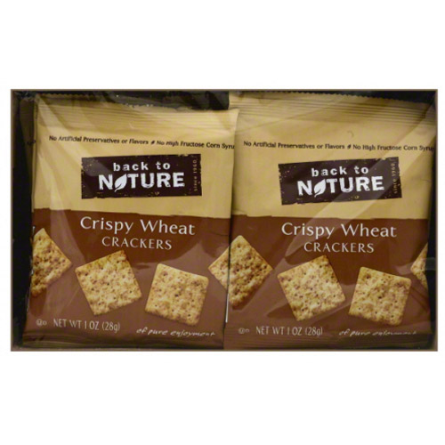Back to Nature Crispy Wheat Crackers, 8 oz, (Pack of 4)