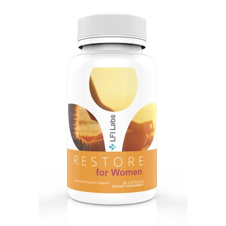 LFI Restore For Women - Your Doctor Recommended 100% All Natural Menopausal Solution. Promotes Beneficial Estrogen Metabolism to Balance Your Hormones & Make You Feel Good Again. Womens Menopausal Support 90 Tabs