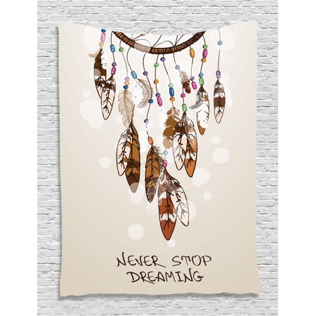 Dreamcatcher Feathers Tapestry Wall Hanging for Living Room Bedroom Dorm Decor