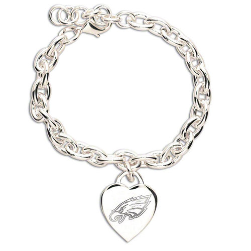 NFL - Philadelphia Eagles Heart Charm Bracelet
