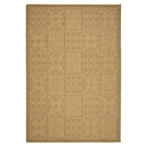 Safavieh Courtyard Gold / Natural Outdoor Area Rug