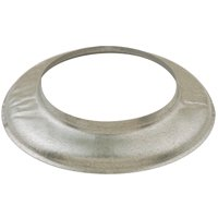 AmeriVent 6ESC Fixed Storm Collar, 6 in Vent Hole, Galvanized Steel ()