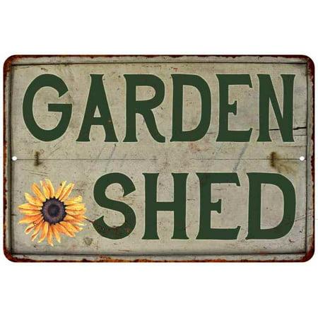 Garden Shed Vintage Look Garden Chic 8x12 Metal Sign G8120020043
