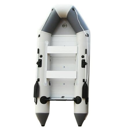 Premium PVC 9.8Ft Inflatable Boat Dinghy Raft Tender with Air Floor Air Floor Inflatable Boat