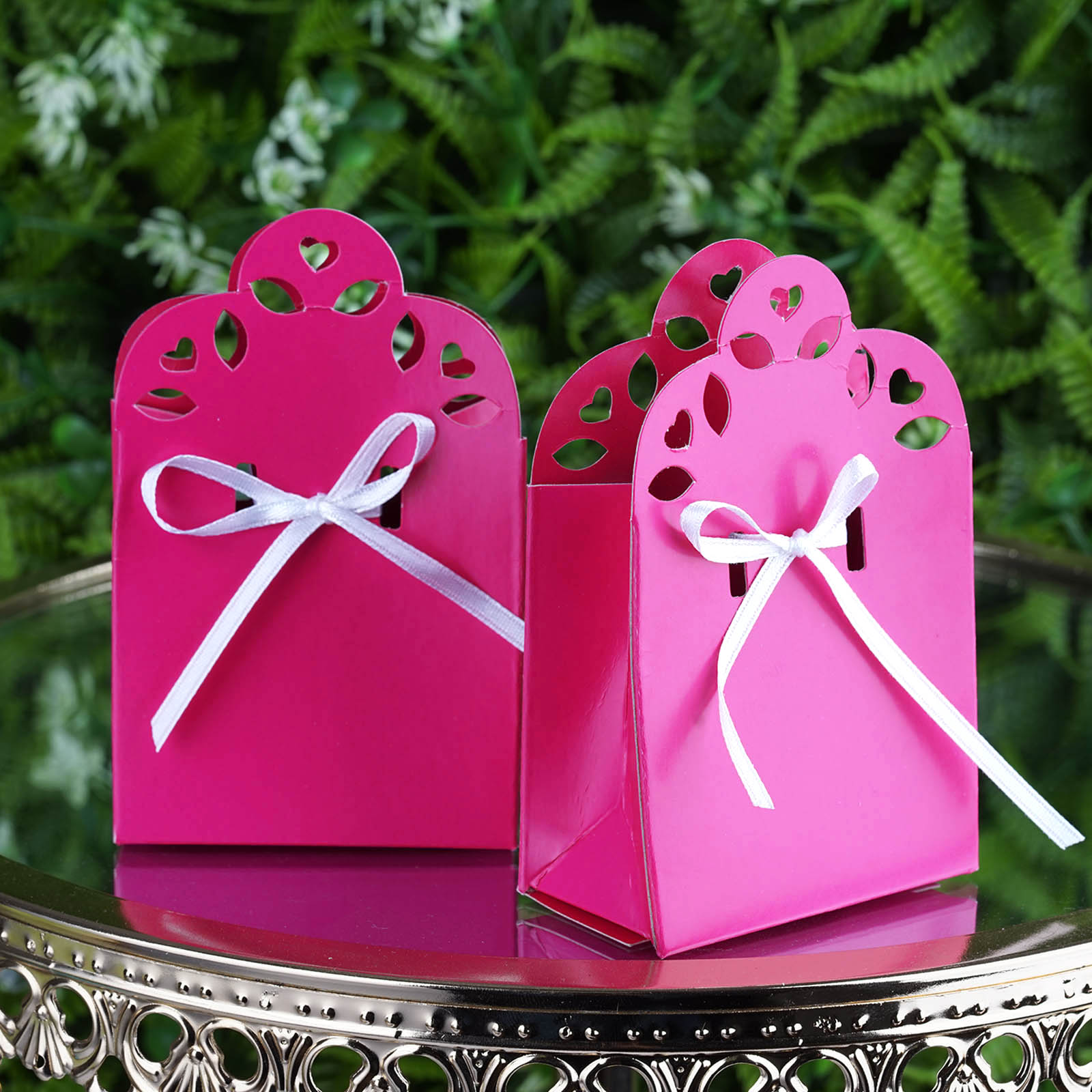 BalsaCircle 100 Cute Wedding Favor Boxes with Ribbons - Wedding Party Candy Gifts Decorations Supplies