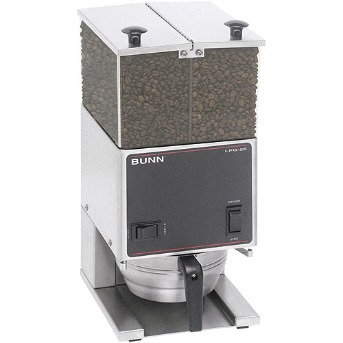 BUNN LPG2E, Low Profile Portion Control Commercial Coffee Grinder with 2 Hoppers