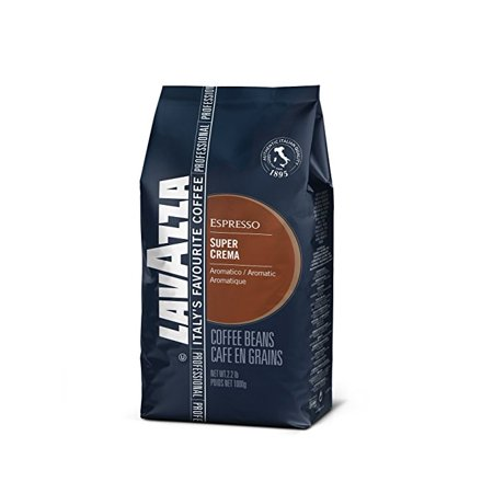Lavazza Super Crema Whole Bean Coffee Blend, Medium Espresso Roast, 35.2 Ounce Bag