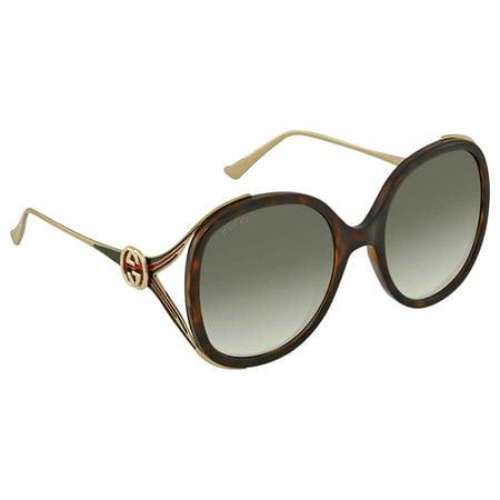 cef23744ca05 Gucci - Gucci GG0226/S 003 Havana/Gold Oversized Round Sunglasses -  Walmart.com