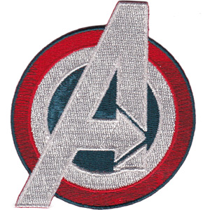 Patch - Marvel -Avengers Age of Ultron Captain America A Logo Iron On p-mvl-0051