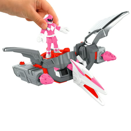 Imaginext Power Rangers Pink Ranger & Pterodactyl Zord - Pink Power Range