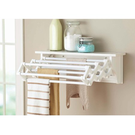 better homes and gardens wall mounted drying rack white. Black Bedroom Furniture Sets. Home Design Ideas