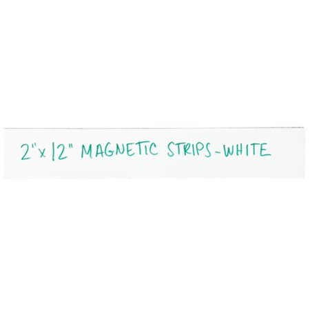 Box Partners LH180 2 x 12 in. White Warehouse Labels - Magnetic Strips - Pack of 25 - image 1 de 1