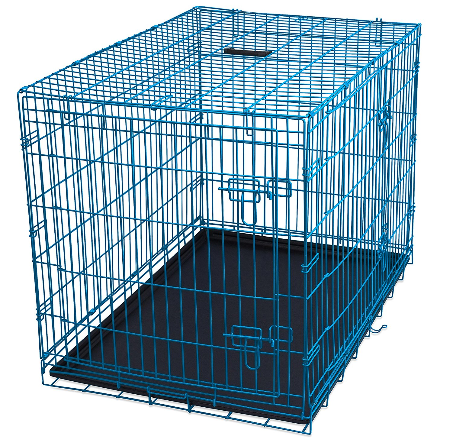 Internet's Best Wire Dog Kennel | Large (42 Inches) | Dou...