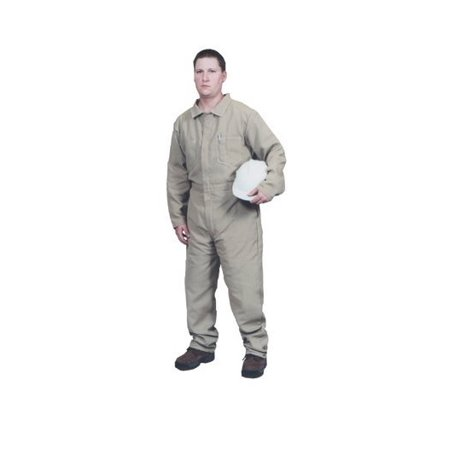 Safety Products Large Tan Indura Arc Rated Flame Resistant Coveralls With Front Zipper Closure