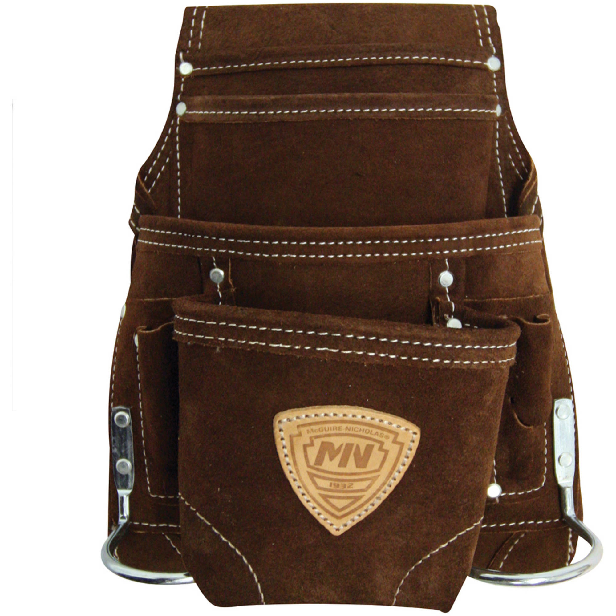Rooster Products International McGuire-Nicholas 10-Pocket Nail and Tool Bag, 688 Brown