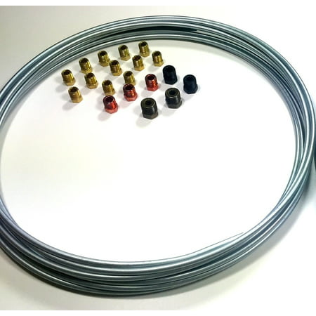 3/16 Brake Line Kit - Steel Roll WITH Fittings ()